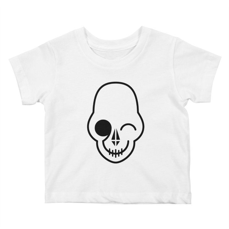Flirting with danger (black print) Kids Baby T-Shirt by PAPKOK