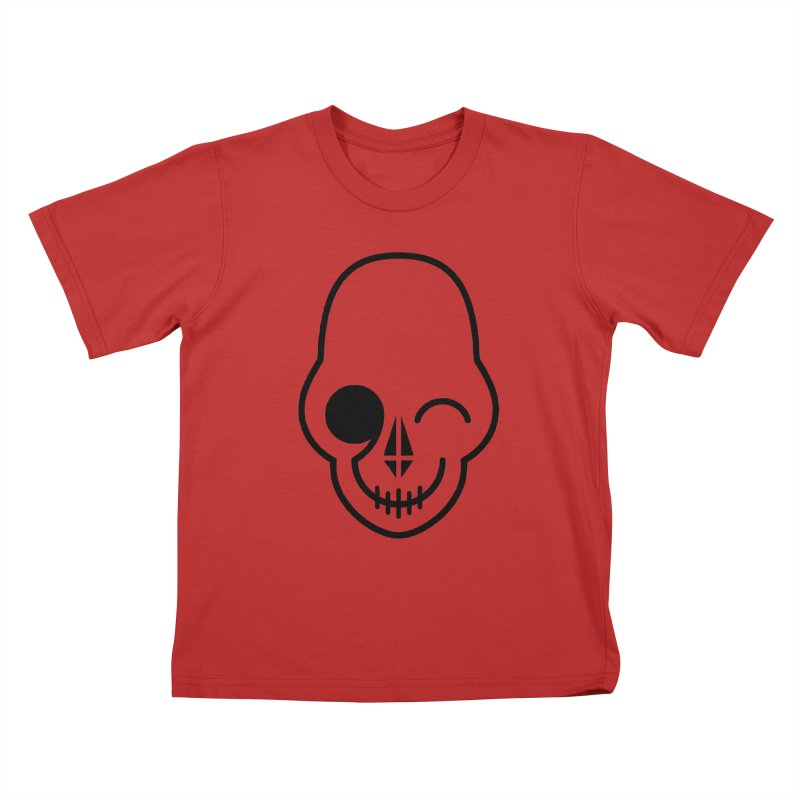 Flirting with danger (black print) Kids T-Shirt by PAPKOK
