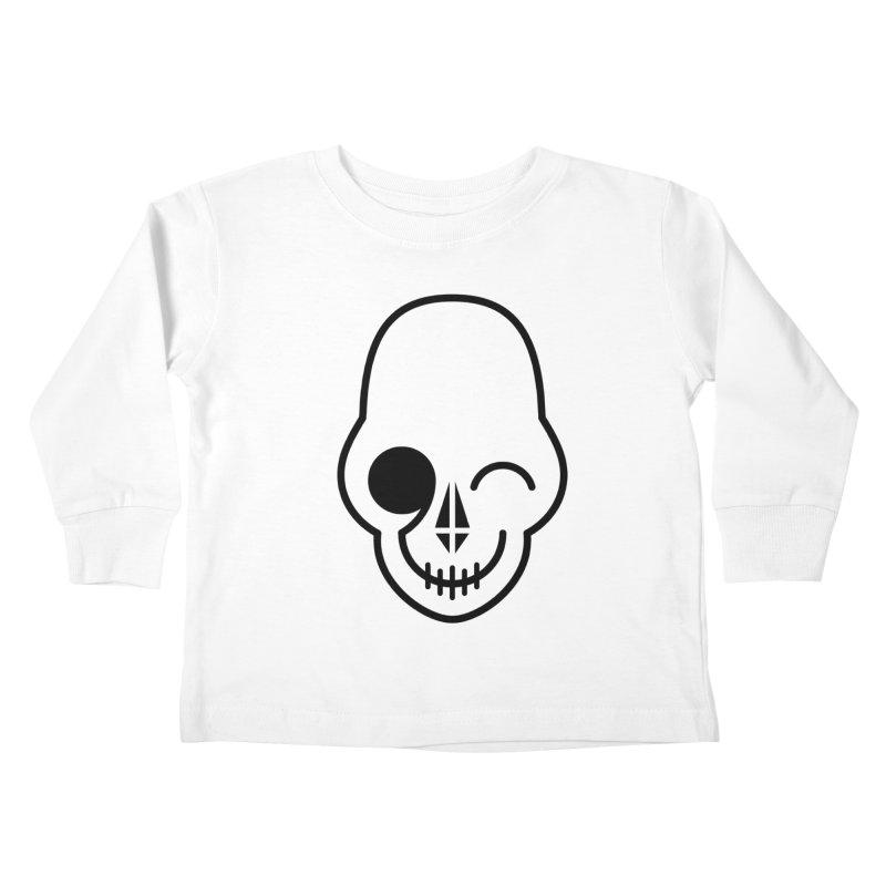Flirting with danger (black print) Kids Toddler Longsleeve T-Shirt by PAPKOK