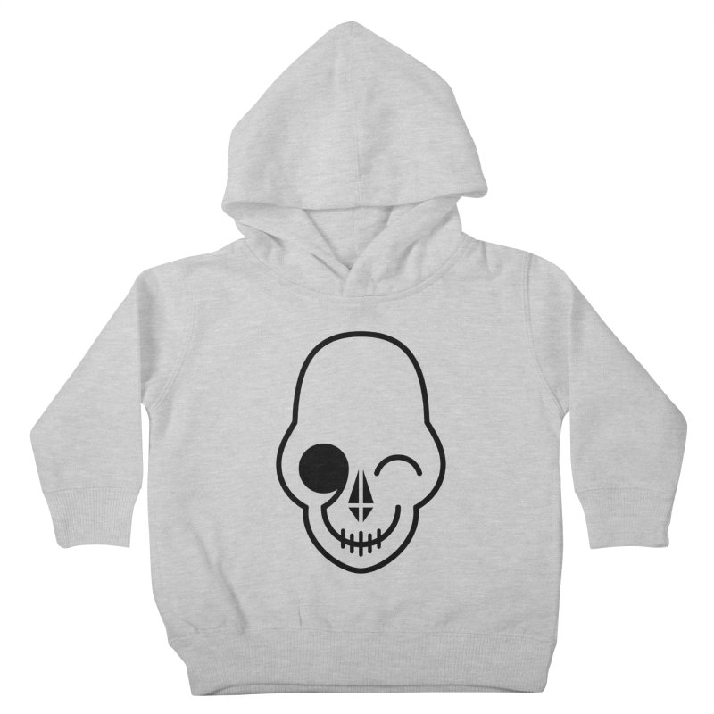Flirting with danger (black print) Kids Toddler Pullover Hoody by PAPKOK