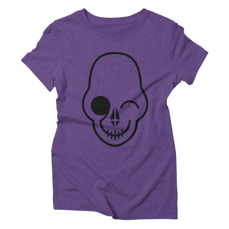 Flirting with danger (black print) Women's Triblend T-Shirt by PAPKOK