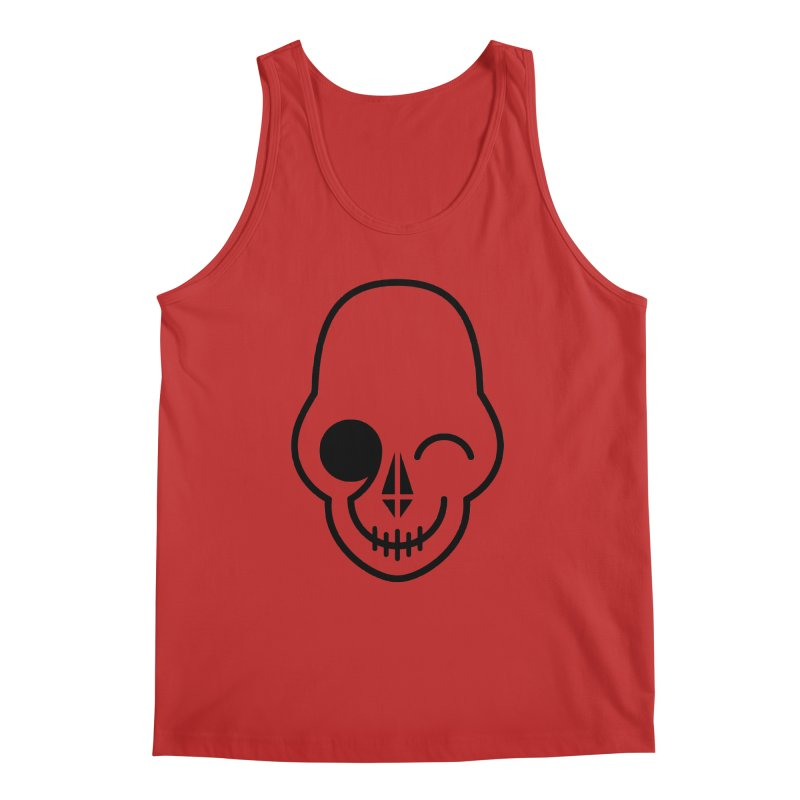 Flirting with danger (black print) Men's Tank by PAPKOK