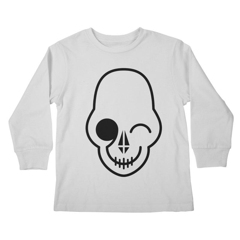Flirting with danger (black print) Kids Longsleeve T-Shirt by PAPKOK
