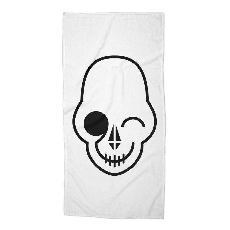 Flirting with danger (black print) Accessories Beach Towel by PAPKOK