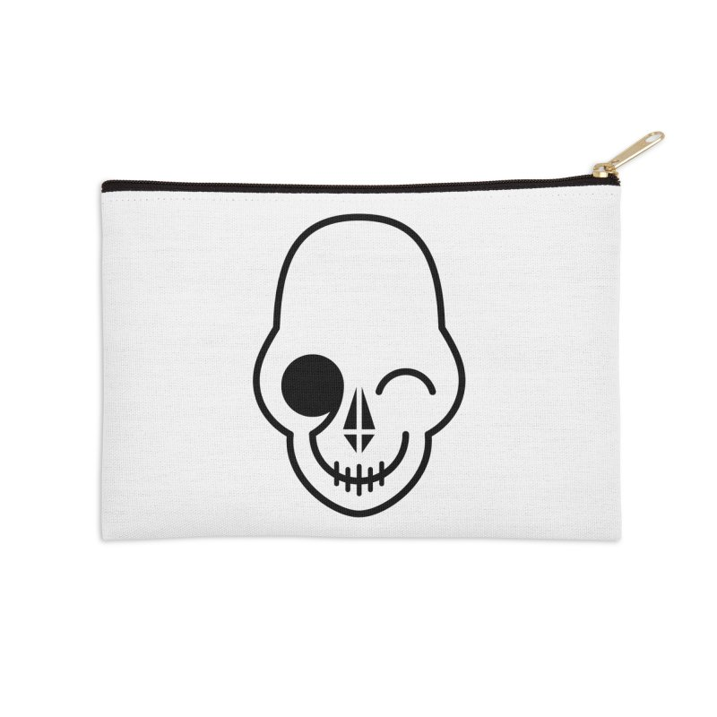 Flirting with danger (black print) Accessories Zip Pouch by PAPKOK