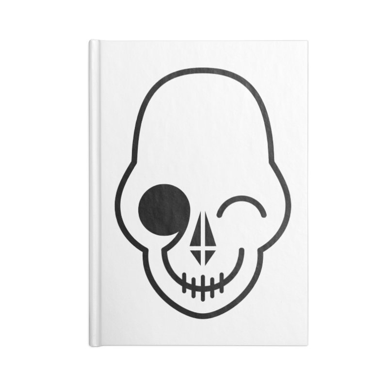 Flirting with danger (black print) Accessories Notebook by PAPKOK