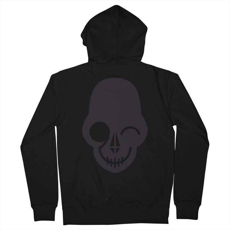 Flirting with danger (dark skull) Men's Zip-Up Hoody by PAPKOK