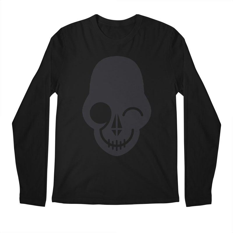 Flirting with danger (dark skull) Men's Longsleeve T-Shirt by PAPKOK