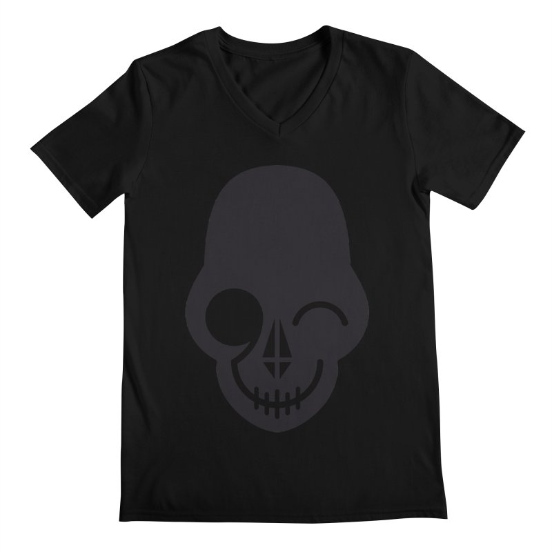 Flirting with danger (dark skull) Men's V-Neck by PAPKOK