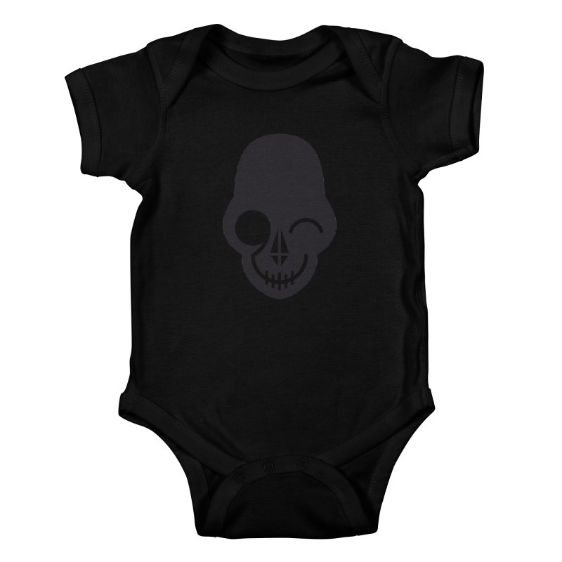 Flirting with danger (dark skull) Kids Baby Bodysuit by PAPKOK