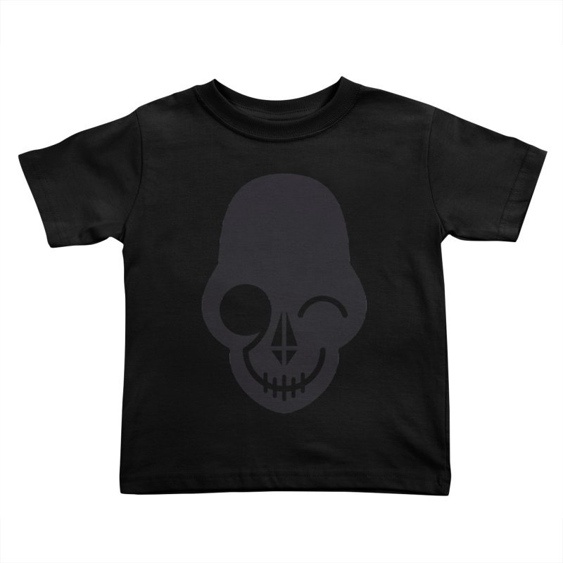 Flirting with danger (dark skull) Kids Toddler T-Shirt by PAPKOK