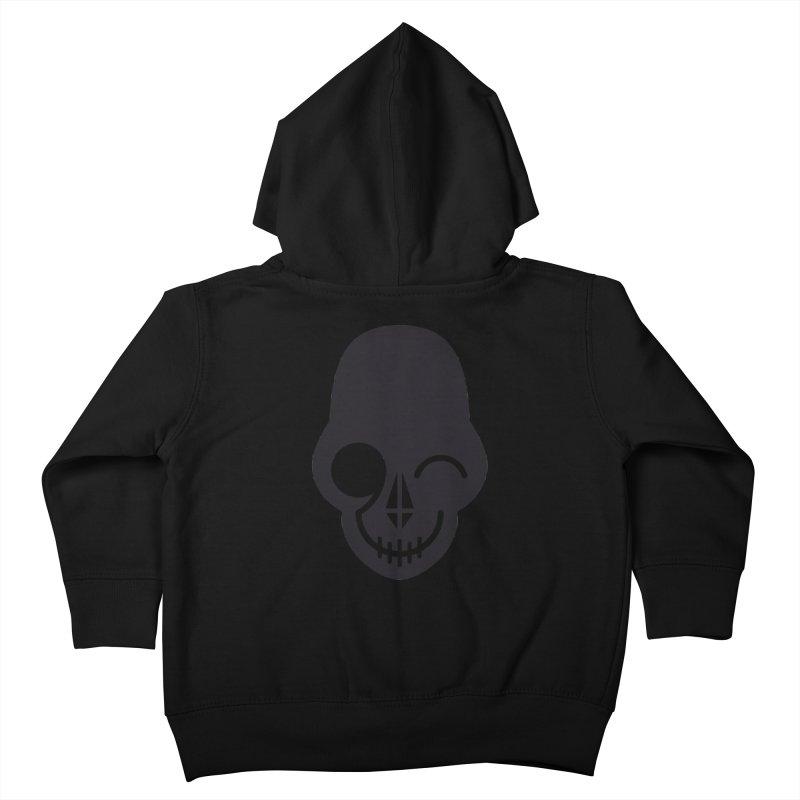 Flirting with danger (dark skull) Kids Toddler Zip-Up Hoody by PAPKOK