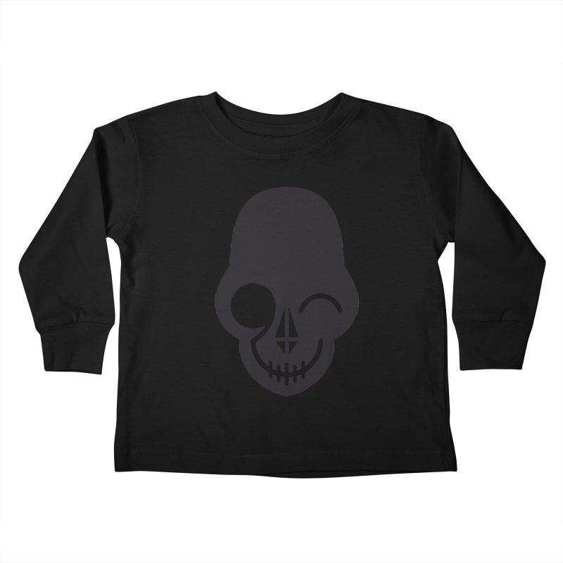 Flirting with danger (dark skull) Kids Toddler Longsleeve T-Shirt by PAPKOK