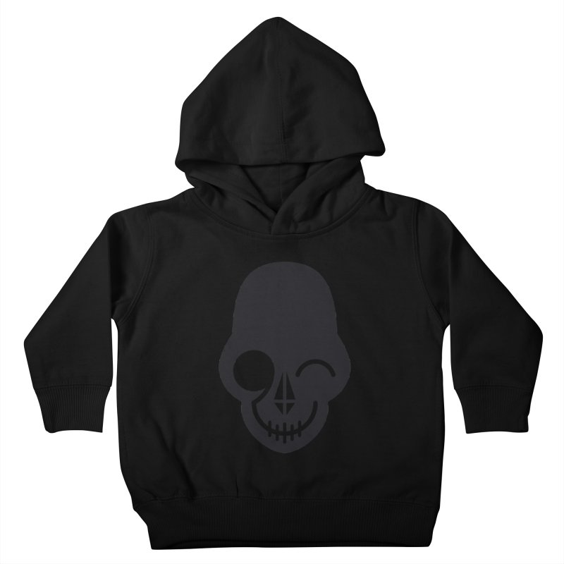 Flirting with danger (dark skull) Kids Toddler Pullover Hoody by PAPKOK