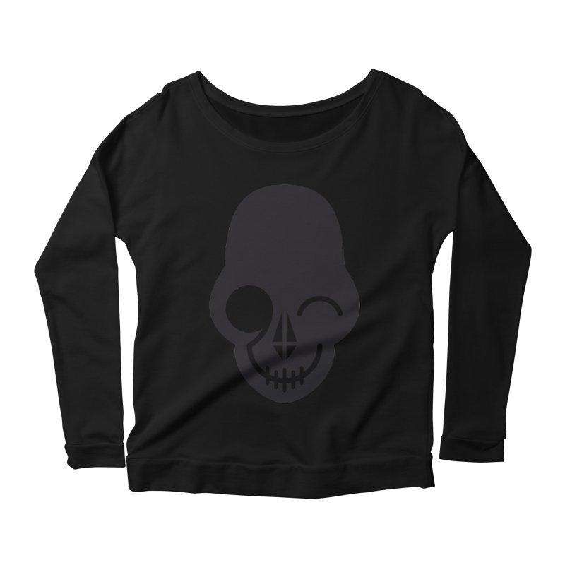 Flirting with danger (dark skull) Women's Longsleeve Scoopneck  by PAPKOK