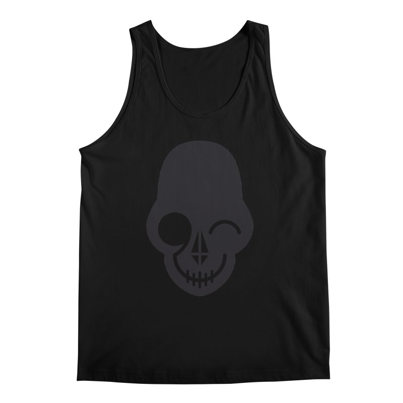 Flirting with danger (dark skull) Men's Tank by PAPKOK