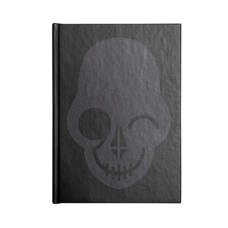 Flirting with danger (dark skull) Accessories Notebook by PAPKOK