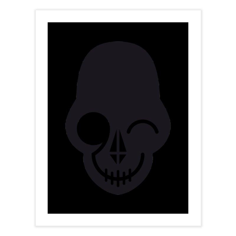 Flirting with danger (dark skull) Home Fine Art Print by PAPKOK