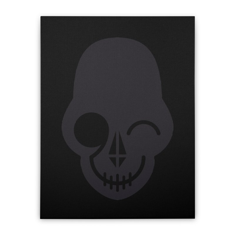 Flirting with danger (dark skull) Home Stretched Canvas by PAPKOK
