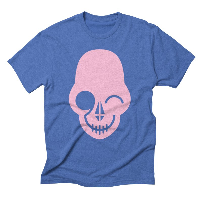Flirting with danger (Pink) Men's Triblend T-shirt by PAPKOK