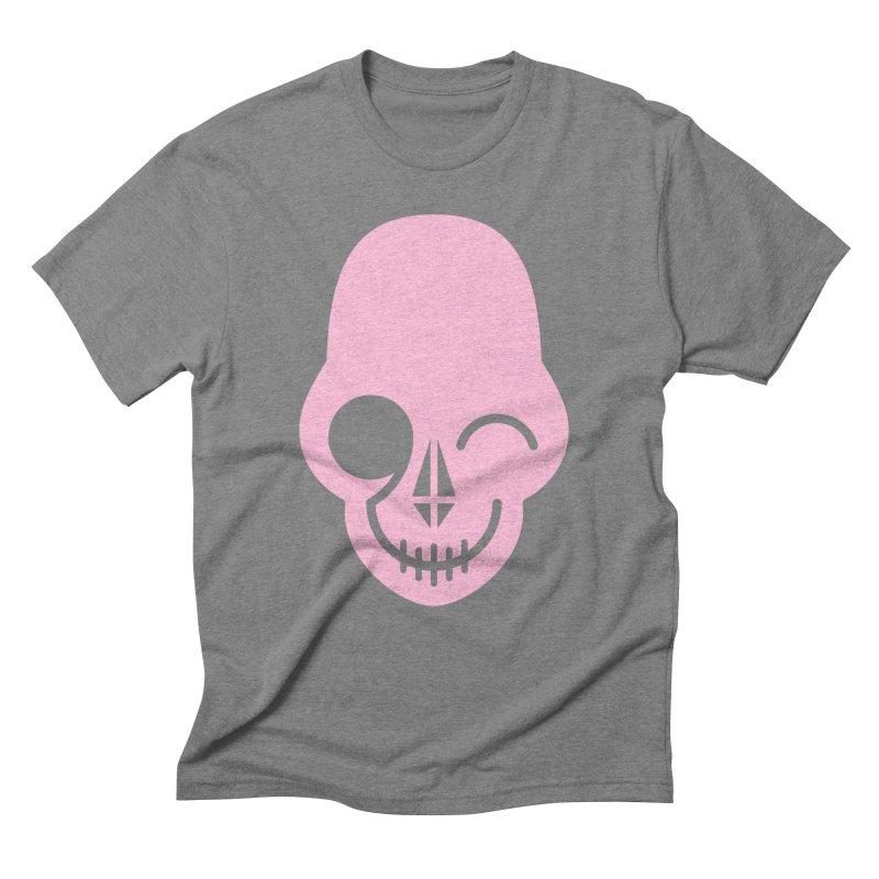 Flirting with danger (Pink) Men's Triblend T-Shirt by PAPKOK