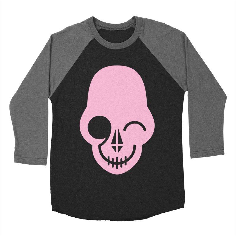 Flirting with danger (Pink) Men's Baseball Triblend T-Shirt by PAPKOK