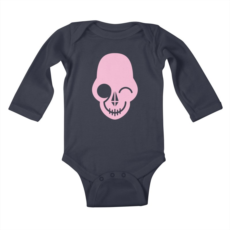 Flirting with danger (Pink) Kids Baby Longsleeve Bodysuit by PAPKOK