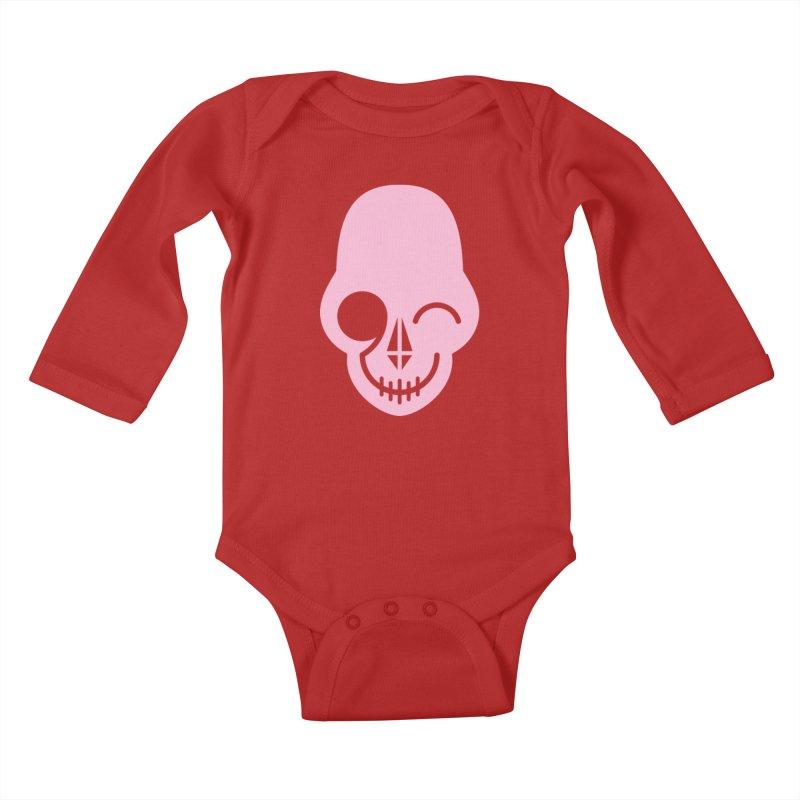Flirting with danger (Pink) Kids Baby Longsleeve Bodysuit by PAPKOK