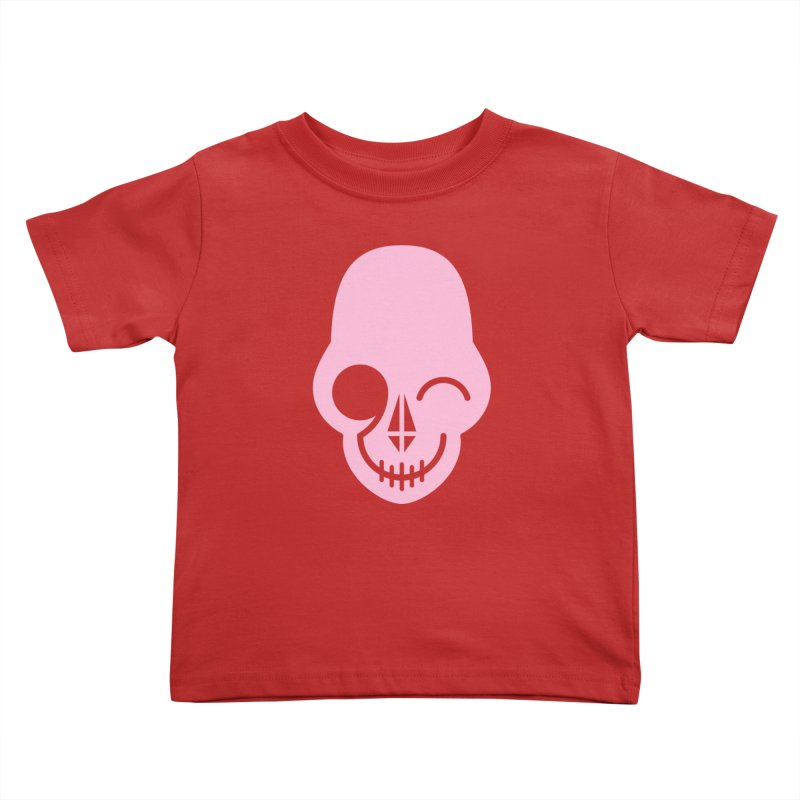 Flirting with danger (Pink) Kids Toddler T-Shirt by PAPKOK