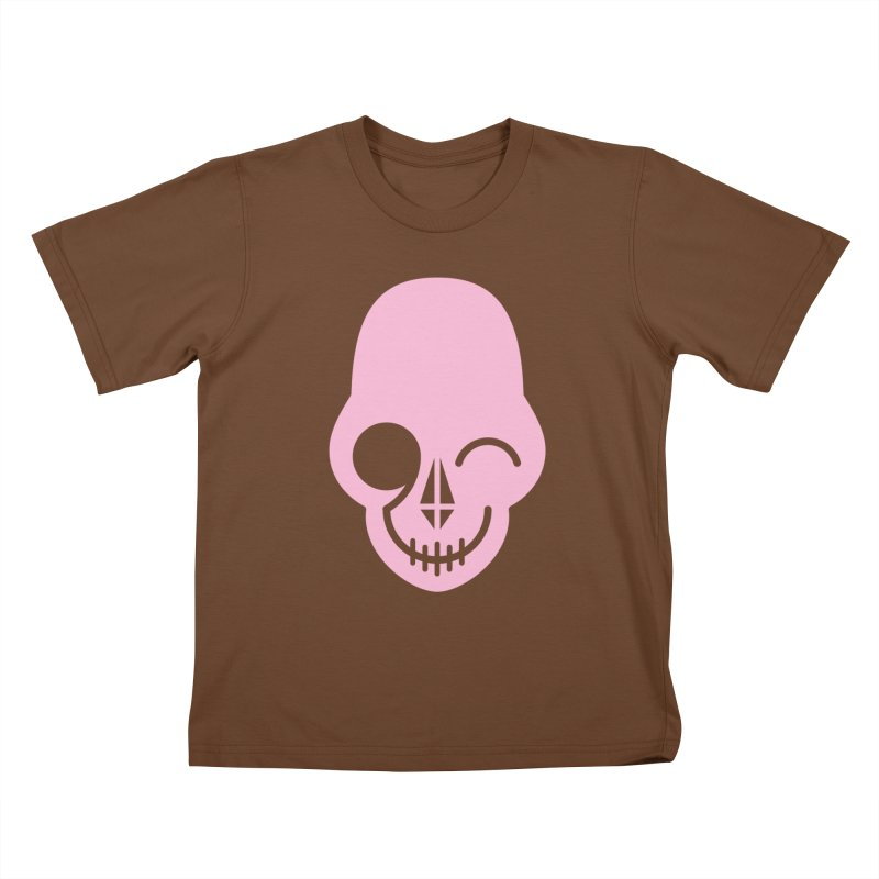 Flirting with danger (Pink) Kids T-shirt by PAPKOK