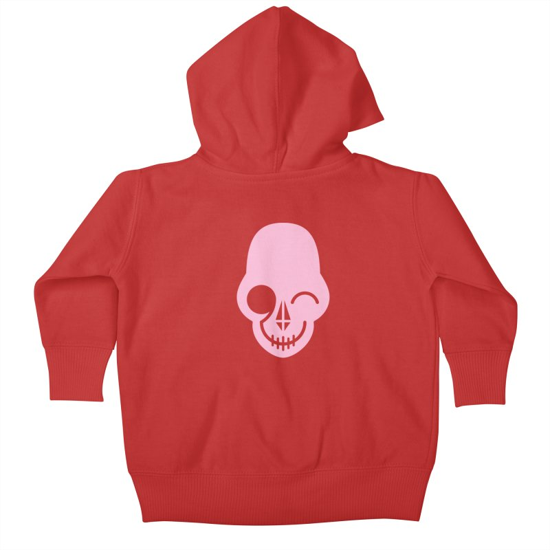 Flirting with danger (Pink) Kids Baby Zip-Up Hoody by PAPKOK