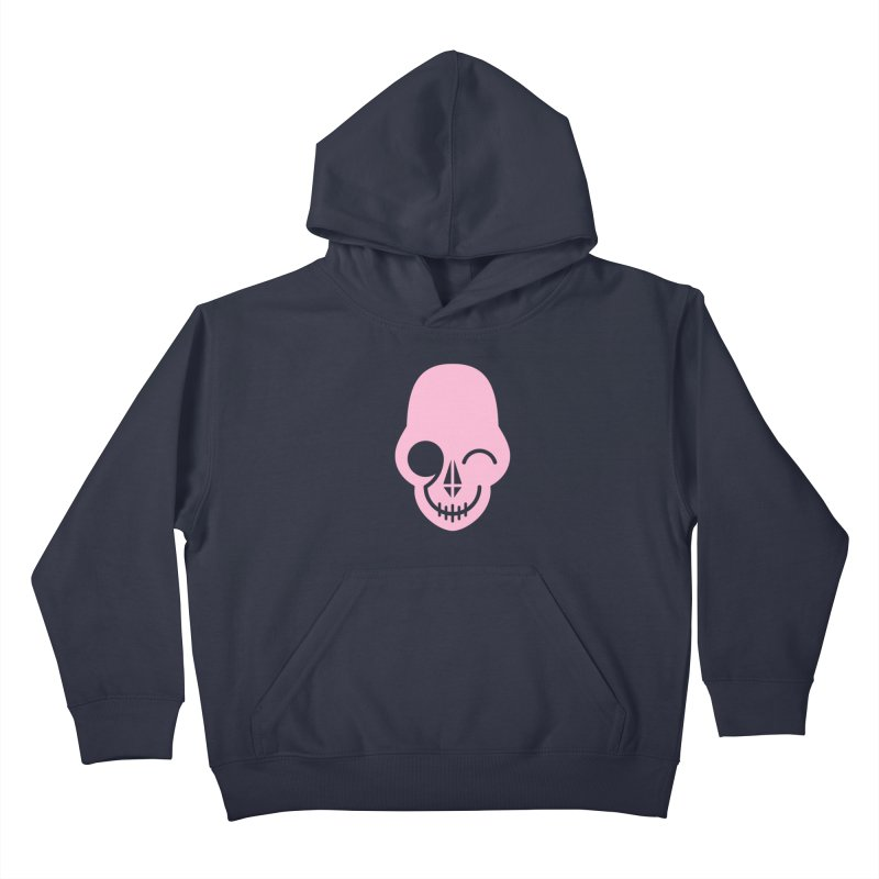 Flirting with danger (Pink) Kids Pullover Hoody by PAPKOK