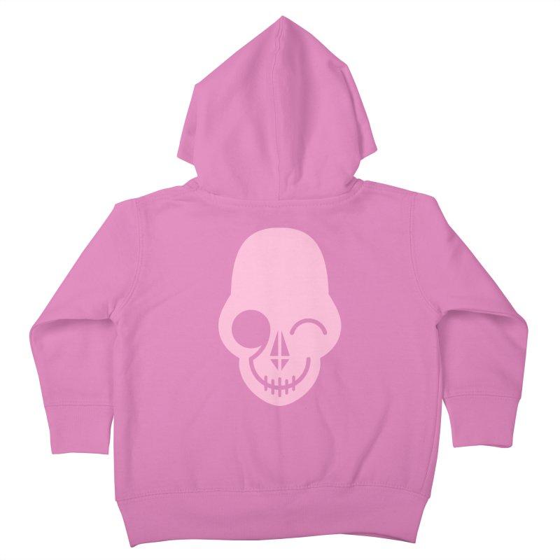 Flirting with danger (Pink) Kids Toddler Zip-Up Hoody by PAPKOK