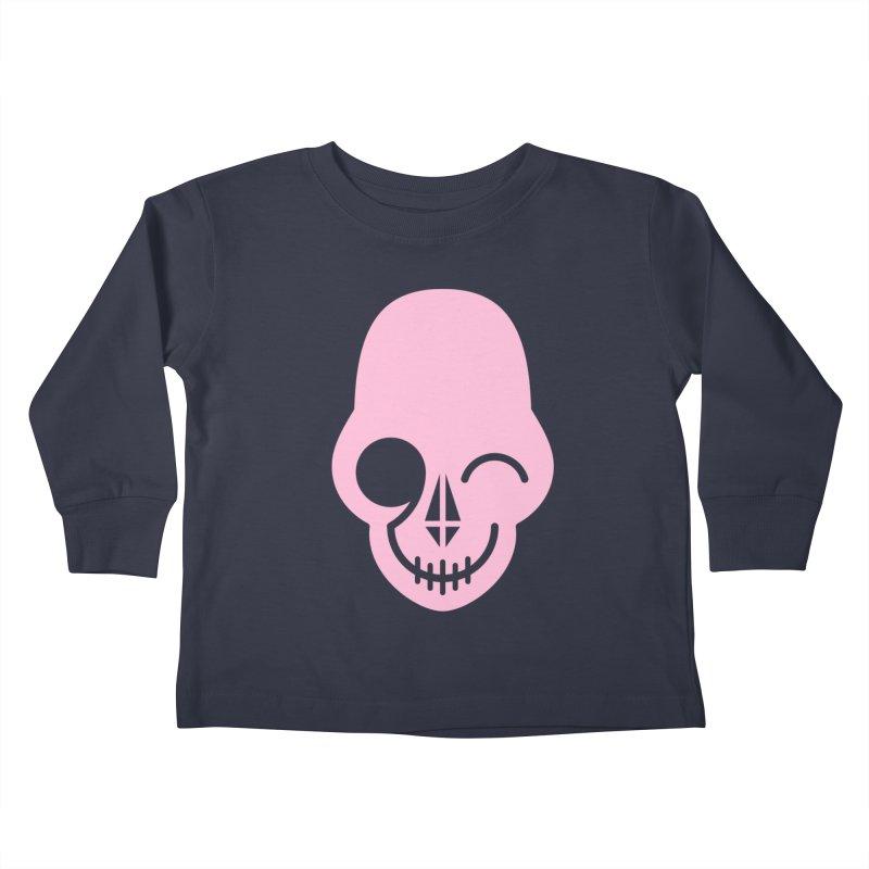Flirting with danger (Pink) Kids Toddler Longsleeve T-Shirt by PAPKOK