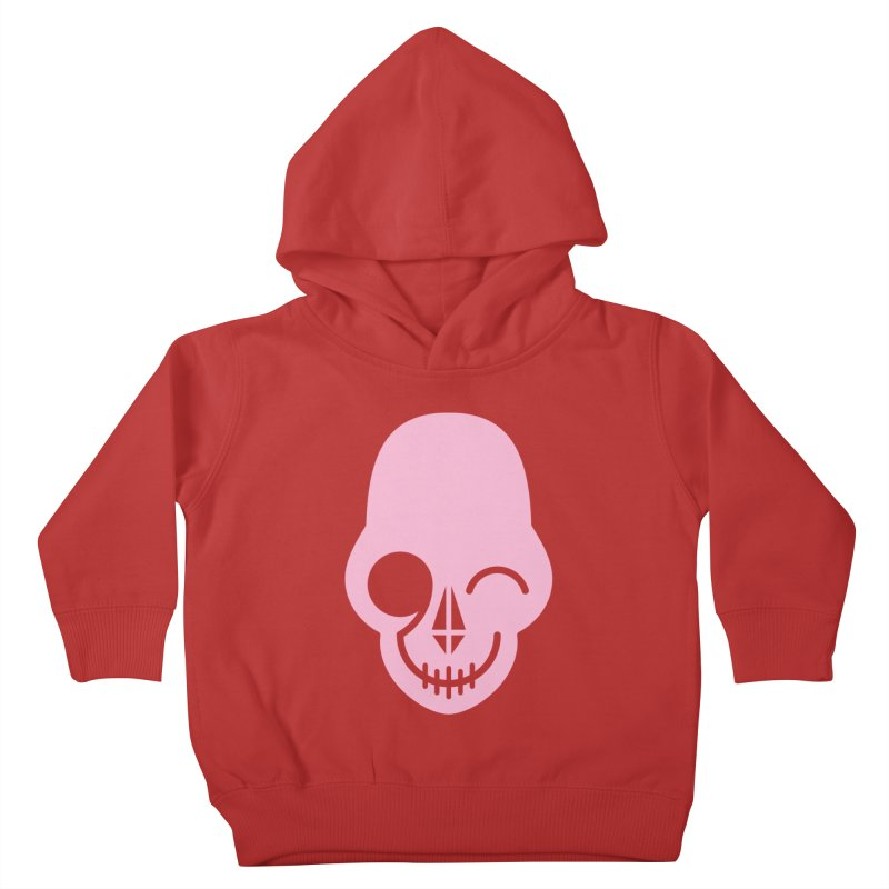Flirting with danger (Pink) Kids Toddler Pullover Hoody by PAPKOK