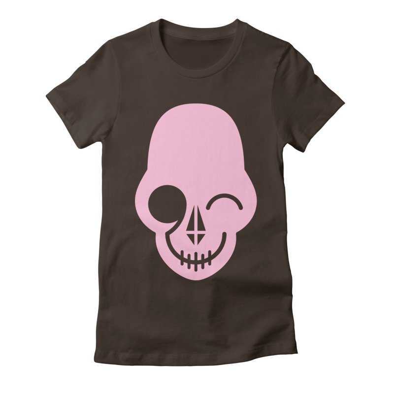 Flirting with danger (Pink) Women's Fitted T-Shirt by PAPKOK