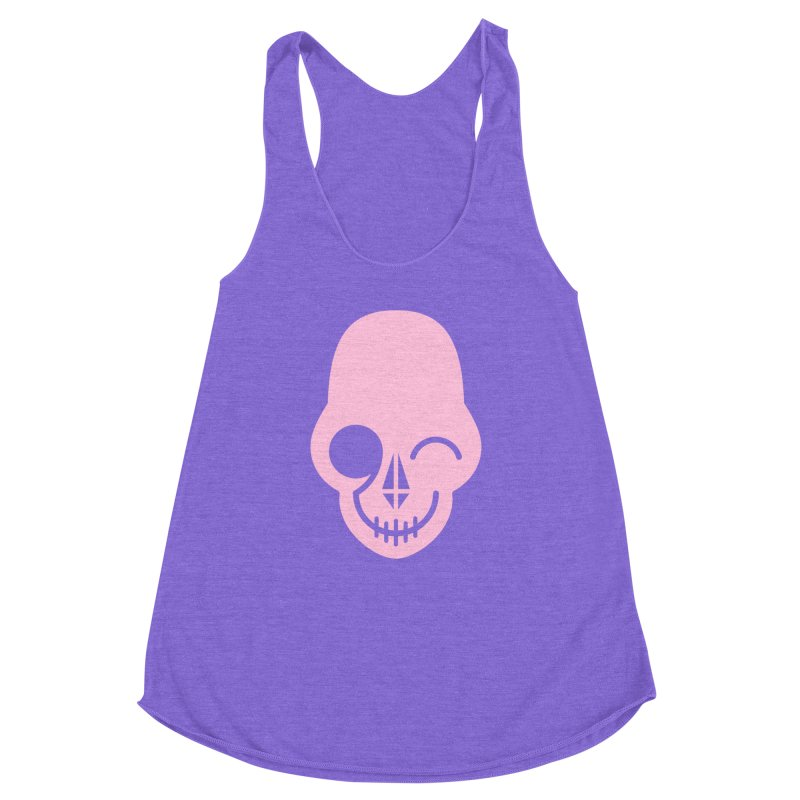 Flirting with danger (Pink) Women's Racerback Triblend Tank by PAPKOK
