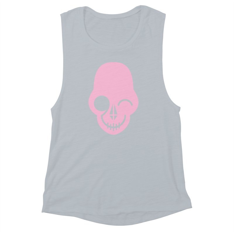 Flirting with danger (Pink) Women's Muscle Tank by PAPKOK