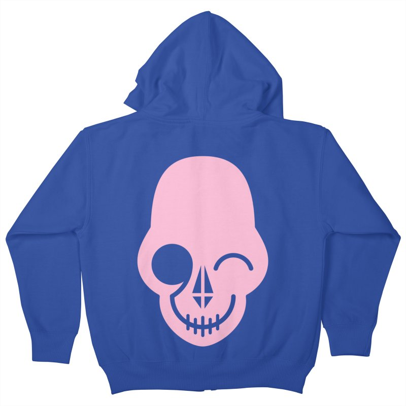 Flirting with danger (Pink) Kids Zip-Up Hoody by PAPKOK