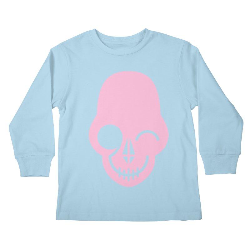 Flirting with danger (Pink) Kids Longsleeve T-Shirt by PAPKOK