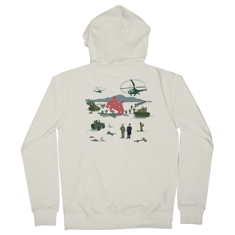 Roswell UFO incident - BLUE Men's Zip-Up Hoody by UMI's Artist Shop