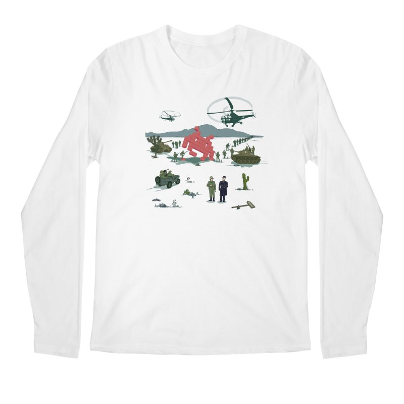 Roswell UFO incident - BLUE Men's Longsleeve T-Shirt by UMI's Artist Shop