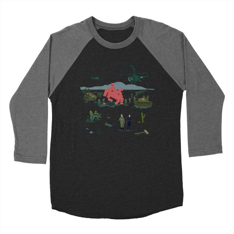 Roswell UFO incident - BLUE Men's Baseball Triblend Longsleeve T-Shirt by UMI's Artist Shop