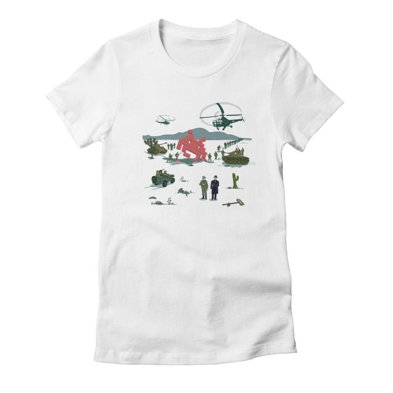 Roswell UFO incident - BLUE Women's Fitted T-Shirt by UMI's Artist Shop