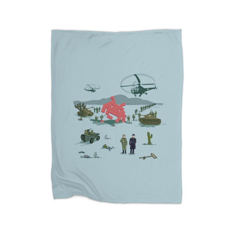 Roswell UFO incident - BLUE Home Fleece Blanket Blanket by UMI's Artist Shop