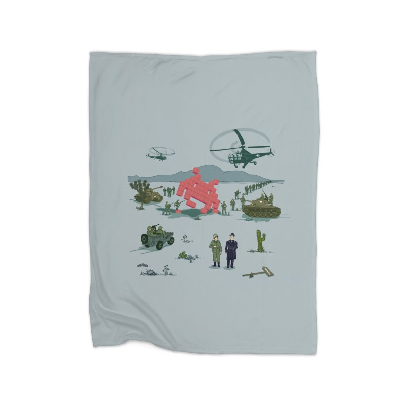 Roswell UFO incident - BLUE Home Blanket by UMI's Artist Shop