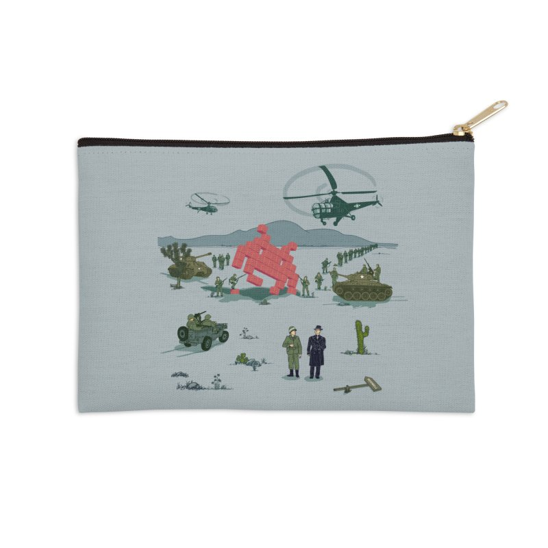 Roswell UFO incident - BLUE Accessories Zip Pouch by UMI's Artist Shop