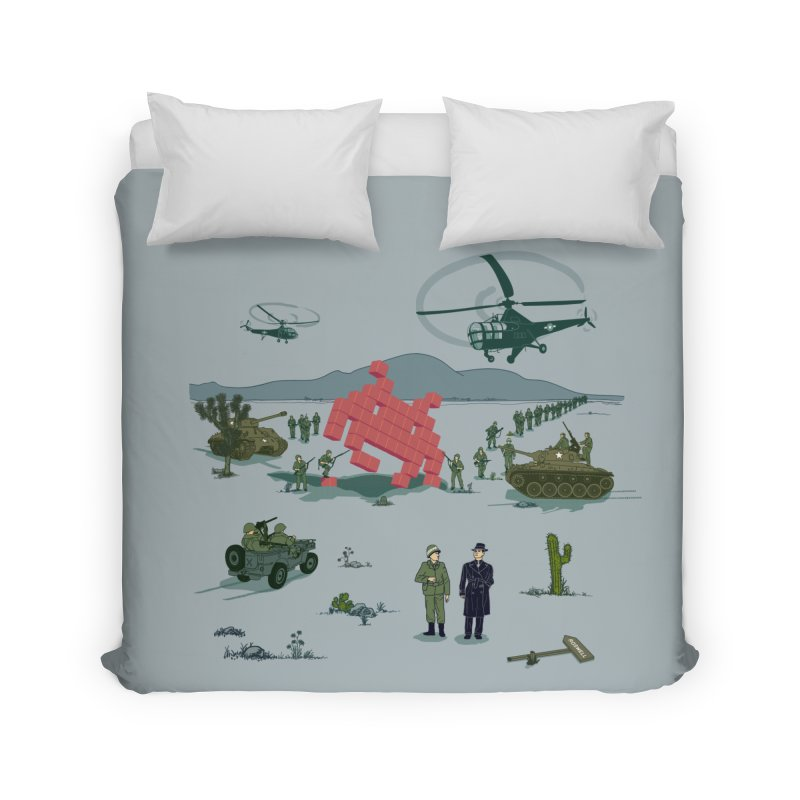 Roswell UFO incident - BLUE Home Duvet by UMI's Artist Shop