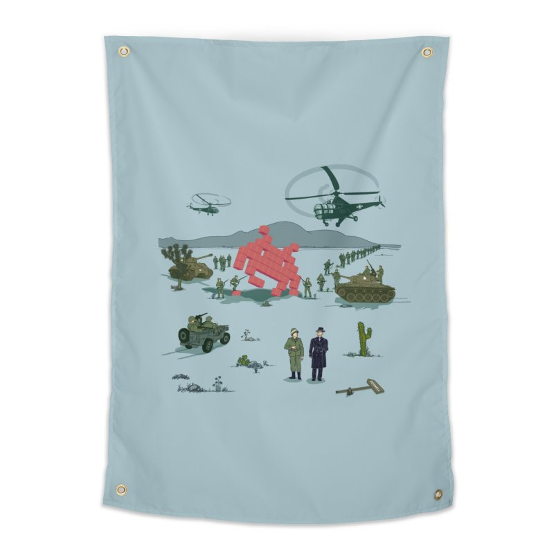 Roswell UFO incident - BLUE Home Tapestry by UMI's Artist Shop