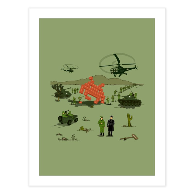 Roswell UFO incident. in Fine Art Print by UMI's Artist Shop